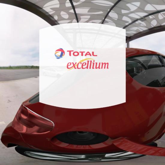 Le parcours de l'essence excellium Total en 360°
