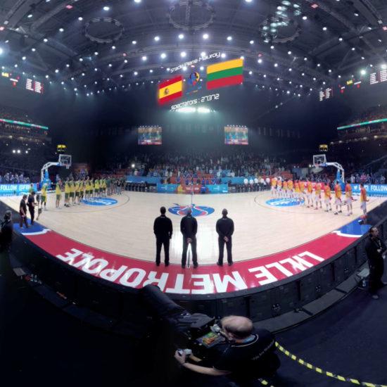 la finale de l'euro de basket 2015 en 360°