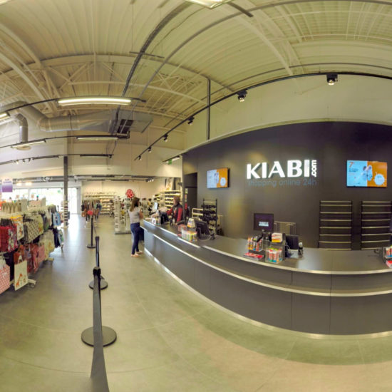 Captation d'un magasin Kiabi en 360°