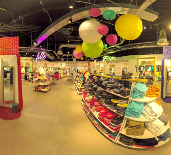 Visite d'un magasin kiabi kids en 360°