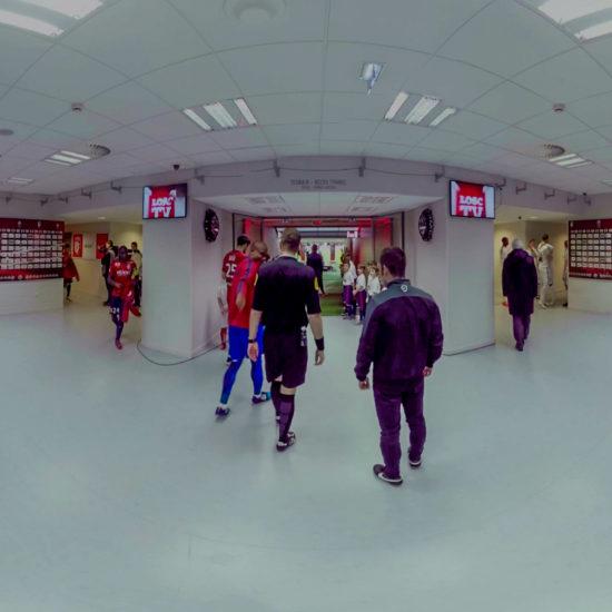 L'entrée des joueurs du Losc en 360°