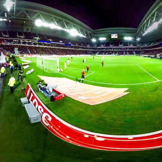 Première mondiale dans le foot Lille Lens en 360°
